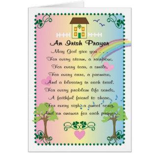 Cartão O dia de St Patrick irlandês da oração