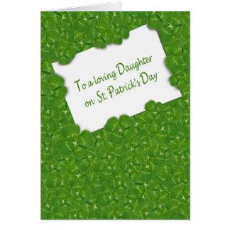 Cartão O dia de St Patrick para a filha