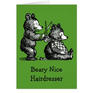 Cartão O dia de St Patrick para o cabeleireiro