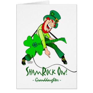 Cartão O dia de St Patrick para uma neta da estrela do