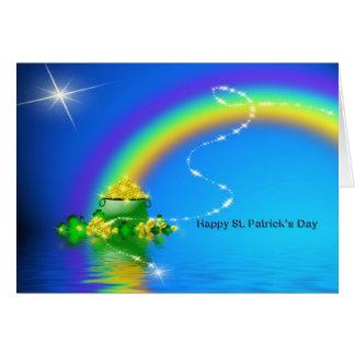 Cartão O dia de St Patrick - pote de ouro