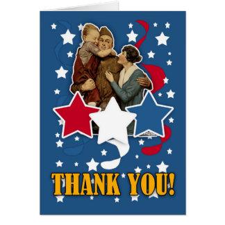 Cartão o dia de veterano - obrigado do Memorial Day você