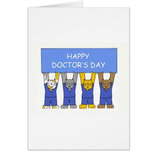 Cartão O dia do doutor feliz