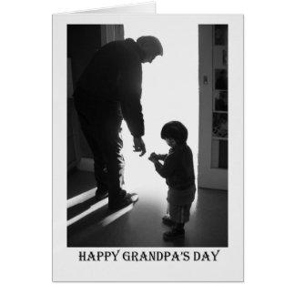 Cartão O dia do vovô feliz