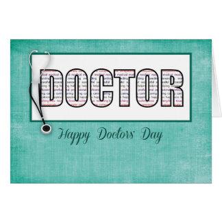 Cartão O Dia dos doutores nas palavras