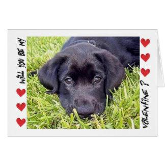 Cartão O dia dos namorados, filhote de cachorro de