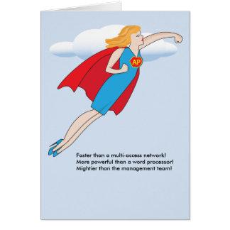 Cartão O dia dos profissionais administrativos