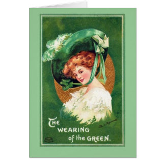 Cartão O dia Notecard de Patrick de santo do vintage