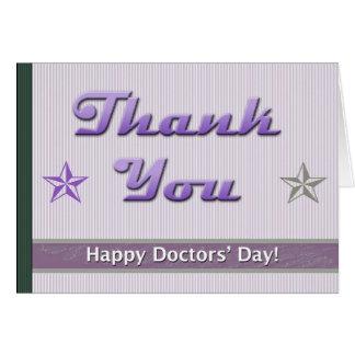 Cartão O Dia Roxo Listra e estrelas dos doutores felizes
