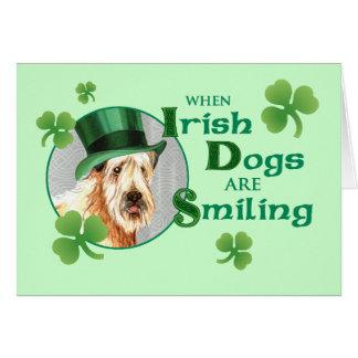 Cartão O dia Terrier Wheaten de St Patrick