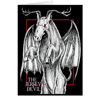 Cartão O diabo do jérsei