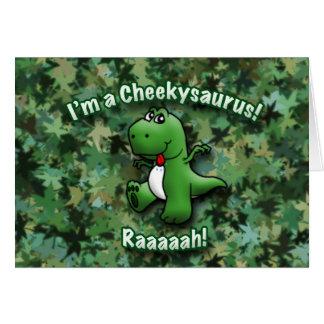 Cartão O dinossauro bonito é um Cheekysaurus