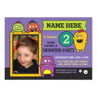 Cartão O divertimento da foto da festa de aniversário do