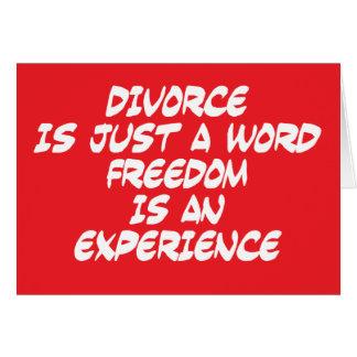 Cartão O divórcio é apenas uma palavra