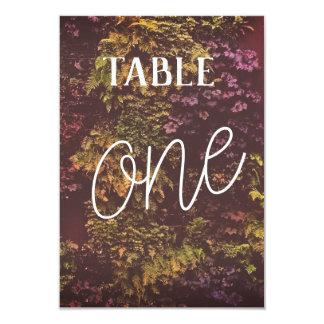 Cartão O dobro tomou partido número da mesa das plantas