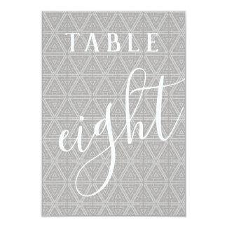 Cartão O dobro tomou partido número modelado da mesa