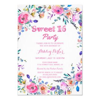 Cartão O doce cor-de-rosa tropical bonito feminino 16 da