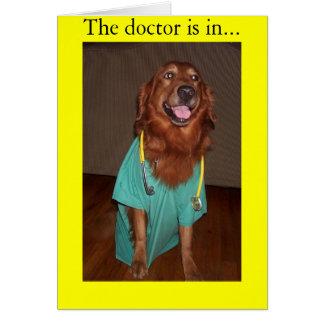 Cartão O doutor está em…
