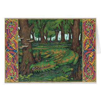 Cartão O dragão do pântano