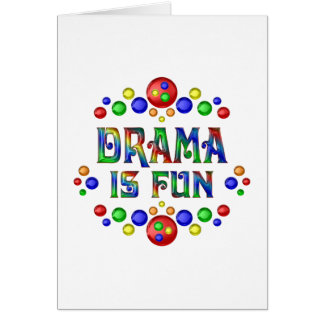 Cartão O drama é divertimento