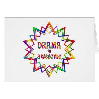 Cartão O drama é impressionante
