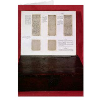 Cartão O duque de ordens da batalha de Wellington