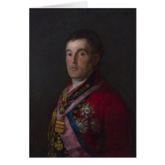 Cartão O duque de Wellington