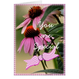 Cartão O Echinacea & o Seersucker cartão-personalizam