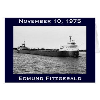 Cartão O Edmund Fitzgerald no rio do St. Clair
