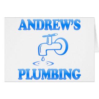 Cartão O encanamento de Andrew