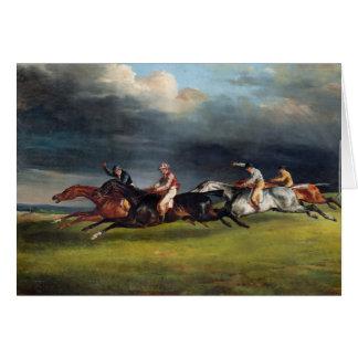 Cartão O Epsom Derby, 1821
