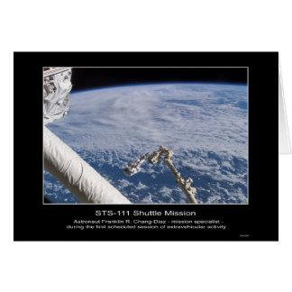 Cartão O espaço STS-1 de Franklin R. Chang-Díaz do