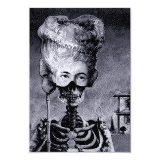 Cartão O esqueleto do Dia das Bruxas convida