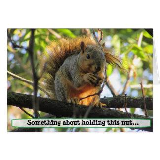 Cartão O esquilo impertinente do casal que guardara o