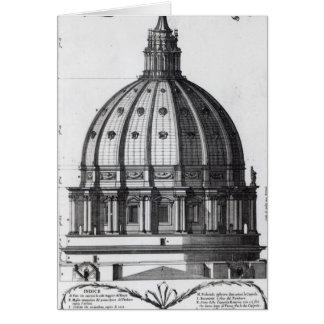Cartão O exterior da abóbada de St Peter, Roma