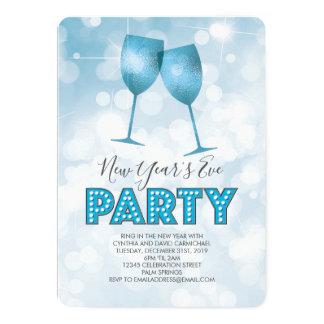 Cartão O famoso azul ilumina o partido da véspera de ano