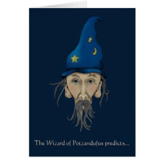 Cartão O feiticeiro de Potzandufus prevê