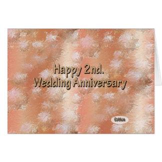 Cartão Ò feliz. Algodão do aniversário de casamento