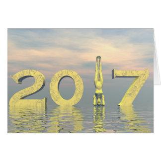 Cartão O feliz ano novo 2017 do zen - 3D rendem