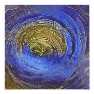 Cartão O feliz ano novo cor-de-rosa do mosaico do azul e