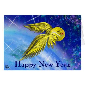 Cartão O feliz ano novo do satélite do tênis