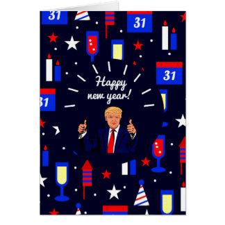 Cartão o feliz ano novo Donald Trump