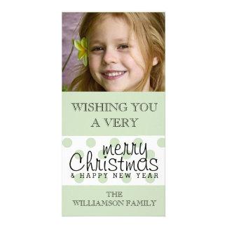 Cartão O feliz ano novo moderno do Feliz Natal do ponto