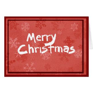 Cartão O Feliz Natal carda com teste padrão vermelho do