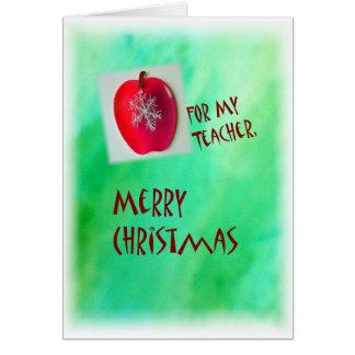 Cartão O Feliz Natal carda para o professor