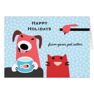 Cartão O feriado do baby-sitter do animal de estimação