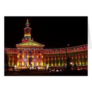 Cartão O feriado ilumina o centro cívico de Denver