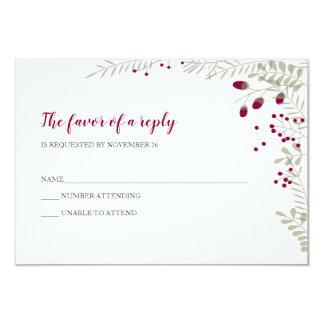 Cartão O feriado ramifica RSVP Wedding