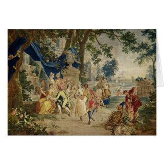 Cartão O Fete da vila após D.Teniers