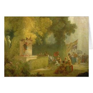 Cartão O Fete na Santo-Nuvem, detalhe da mostra de